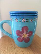 New listing Barnes & Noble Ceramic Mug Tea Infuser with Lid