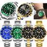 CURDDE Men Luxury Military Stainless Steel Case Date Quartz Analog Wrist Watch