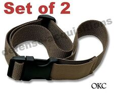 Set of 2 Ontario Okc3S Compatible Leg Strap Tactical Drop Leg Coyote Cargo Strap