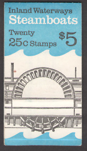 US. 2405-09. 25c. Steamboats. BK166. Booklet of 20. MNH. 1989