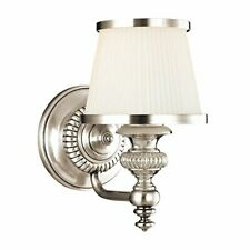 Milton 1-Light Vanity Light - Polished Nickel Finish with Opal Glossy Glass Shad