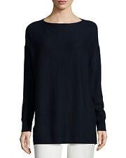 NEW Vince Rib-Stitched Cashmere Sweater- Coastal Size S