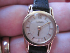 LeCoultre Manual Ladies Watch Fully Serviced Rare Vintage 14K Solid Yellow Gold