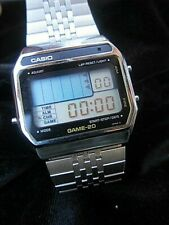 RARE CASIO GM 20 GAME Watch . VINTAGE! MODULE 165!! Intercepter GAME!