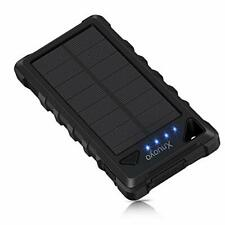 Xnuoyo Solar Charger Power Bank, 20000mAh Outdoor Portable Charger with Micro