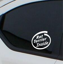 2x Rat Terrier Inside stickers car decal