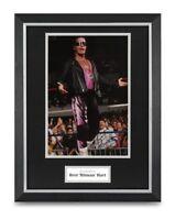 Bret Hart Signed 16x12 Framed Photo Display WWF Autograph Memorabilia + COA
