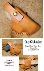 Gary C's Leather CrossDraw OWB HOLSTER fits Glock 26/27/33. DISCONTINUED Style