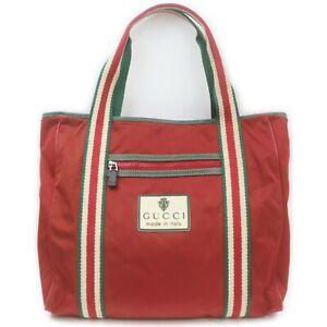 Gucci Tote Bag  Reds Nylon 1718246
