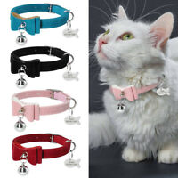 Personalized Custom Dog Collar Cat Collar with ID Tags Free Engraved Kitten Tags