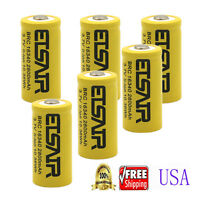 6pcs 3.7V CR123A 16340 2800mAh Rechargeable Battery Cell 16340 123A CR123