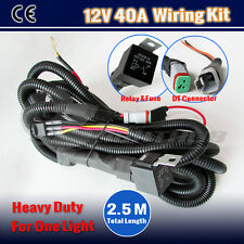 DC12V HEAVY DUTY HID LED SPOT DRIVING WORK LIGHT BAR WIRING KIT HARNESS LOOM