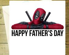 Deadpool fathers day dad daddy card  greeting 1