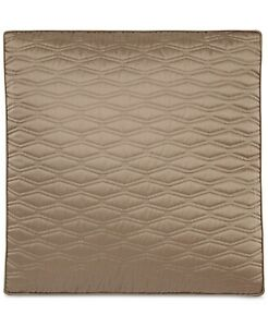 Hotel Collection Woven Texture Red Quilted European Sham T4101309