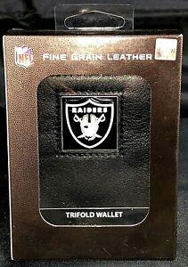 NFL Las Vegas Raiders Fine Grain Tri-fold Leather wallet