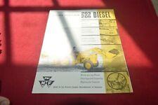 Massey Ferguson 203 205 Diesel Tractor Dealer's Brochure RCOH ver4