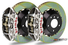 BREMBO Rear GT BBK Brake 4piston GT-R 380x28 Slot Disc Camaro V6 SS ZL1 10-14