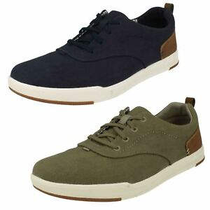 MENS CLOUDSTEPPERS BY CLARKS LACE UP STEP ISLE CREW CANVAS SHOES SIZE SUMMER