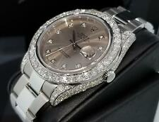 Rolex Men's Datejust 2 II 41mm Ref. 116334 11 CT. Full Diamond Case Box & Papers