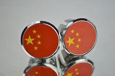 Republic China Flag Handlebar End Plugs Bar Caps lenkerstopfen bouchons tapones