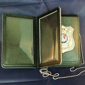 IPA Polizei Ausweismappe aus Leder mit Badge Österreich