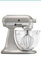 KitchenAid 5-Qt Artisan Design Series-Glass Bowl-Pearl Silver KSM155GBSR