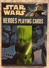 "NEW ~ SEALED STAR WARS ""HEROE'S"" PLAYING CARDS ~ 2011 ~ Cartamundi"