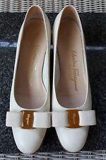 Salvatore Ferragamo Boutique Vara Bow Shoe Leather 6.5 AA Lillaz Flat Vintage
