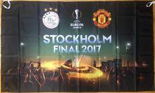 2017 AJAX v MAN MANCHESTER UNITED UTD EUROPA LEAGUE FINAL BIG FLAG 75 x 150 CM