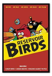 Framed Angry Birds Reservoir Birds Poster Ready To Hang New