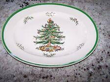 "SPODE COPELAND 15"" CHRISTMAS TREE OVAL PLATTER"