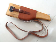 Broomhandle German Mauser C 96 Wooden Holster With Leather Shoulder Strap Sling