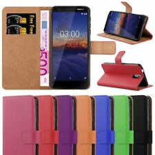 For Nokia 3.1 Phone Case, Leather Wallet Flip Book Stand View Card Holder Cover