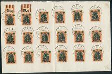 Danzig,Briefstücke 34x Mi.-Nr.18, davon 7 Stücke mit Oberrand, pracht