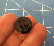 """New 4 US Navy Black Anchor Buttons 5/8"""" Fits Pants & Shirts Replacement BT1"""