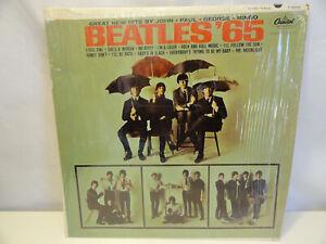 The Beatles '65 original vinyl LP mono pressing has Plastic wrap OPEN F2-8