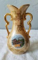Vintage Made in Switzerland Porcelain Ceramic Handled Vase Advertising Lucerne