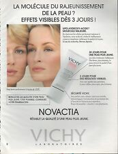 ▬► PUBLICITE ADVERTISING AD Vichy Laboratoires novactia crème peau 1994