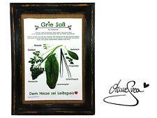 Grie Soß Poster Druck A4 Grüne Soße Hessen Rezept Koch Frankfurt 7 Kräuter