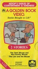 Golden Book Video VHS Town & Country Mouse and The Lion & the Mouse 2 Stories