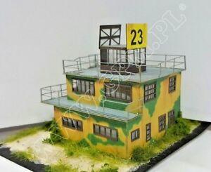 WWII RAF Airfield Control Tower 1:48 scale Model Kit ( LASERCUT SET PREPAINTED )