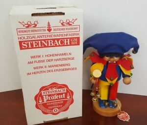 """NEW 11"""" STEINBACH Wooden Nutcracker """"CHUBBY JESTER"""" Handcrafted Germany S726 BOX"""