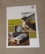 Vauxhall Frontera Brochure 2003 Sport RS Olympus Estate 2.2 16v DTI 3.2 V6 24v