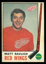 1969 70 OPC O PEE CHEE HOCKEY #161 MATT RAVLICH EX-NM DETROIT RED WINGS CARD
