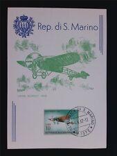 SAN MARINO MK 1962 FLUGZEUGE LOUIS BLERIOT1909 MAXIMUMKARTE MAXIMUM CARD MCc7620
