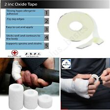 ZINC OXIDE SPORTS STRAPPING WHITE TAPE ROLL SPORT ADHESIVE MEDICAL CLINICAL AID