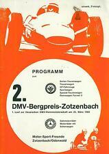 Programm 1969 DMV Bergpreis Zotzenbach Bergrennen TW GT Sportwagen FV Motorrad