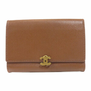 CHANEL   Bifold Wallet with Coin Pocket COCO Mark Leather