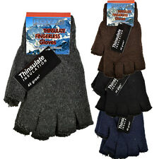 FINGERLESS MENS THINSULATE GLOVES THERMAL INSULATION KNITTED WARM WINTER LADIES