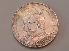 - Germany 1901 Prussia five 5  Marks Kingdom Bicentennial  Uncirculated Unc